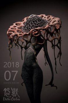 Twoucan - skink chen (via - Creature Concept Art, Creature Design, Tutorial Zbrush, Monster Concept Art, Bild Tattoos, Arte Obscura, Monster Design, Creepy Art, Foto Art