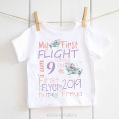 Excited to share the latest addition to my shop: My first flight personalised baby T-shirt – my first holiday, Baby Shower Host, Baby Shower Gift Basket, Winter Baby Clothes, Cute Baby Clothes, Baby T Shirts, Baby Girl Fashion, New Baby Gifts, Personalized Baby, Baby Girl Newborn