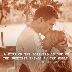 Forehead kiss.