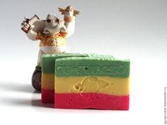 Купить Reggae - натуральное мыло - красный желтый зеленый, раста, растаман, натуральное мыло