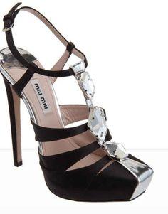 """""""Shoe du Jour"""" 10.15.12 Miu Miu Jewel T-Strap Sandals « Shoefessional"""