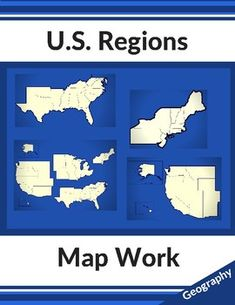 us geography map work four regions