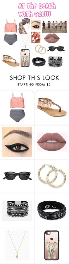 """""""AT THE BEACH WITH O2L!!!"""" by abbyabroome946 on Polyvore featuring Penny Loves Kenny, White House Black Market, Swarovski and Casetify"""