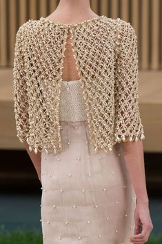 Chanel Couture Fashion Show Details Chanel Couture, Style Haute Couture, Couture Fashion, Runway Fashion, Womens Fashion, Spring Couture, Fashion Fashion, Couture Details, Fashion Spring