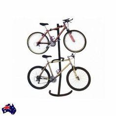 Bike Storage Rack 2 Bikes Stand Bicycle Garage Storing Gravity Space Safe New