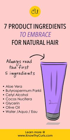 Learn why you should embrace these ingredients (and which to embrace @ http://KnowThyCurls.com