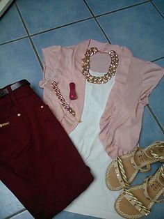 Weinrot und rosa