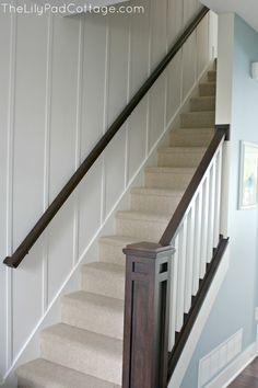 handrail board batten walls - Google Search