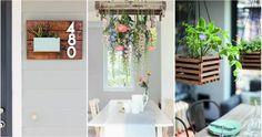 Ideas para decorar tu hogar (de arriba a abajo) con macetas Patio, Crocheting, Plants, Drawings, Hanging Flower Pots, Indoor Plants, Home Decorations, Gardens, Crochet