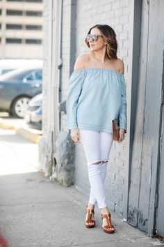 STYLE TREND: off-the-shoulder top for under $40! #gap
