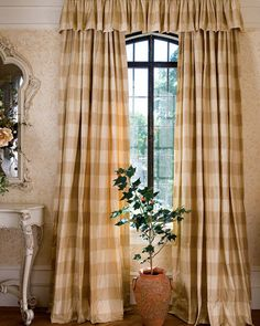 12 Genius Ways To Make Your Windows Stand Out. Buffalo Check CurtainsLeaded  ...