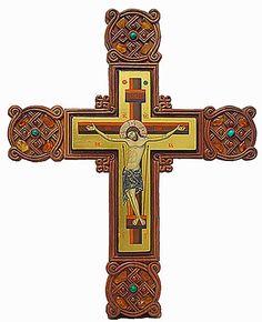 Carved analogion cross encrusted with stones, #CatalogOfGoodDeeds #CatalogOfStElisabethConvent #handmade #craft #Christ #JesusChrist #Savior #Pantocrator #ChristThePantocrator #orthodox #orthodoxy #church #orthodoxchurch #easternorthodoxy #orthodoxculture #religion #faith #Christian #Christianity #orthodoxpath #cross #handmadecrosses #handmadeitems #woodencross #carvedcross #buycross #ordercross #orthodoxcross