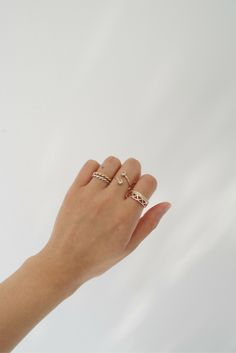 Gold and Sterling silver rings / Available via http://www.myeldesign.com