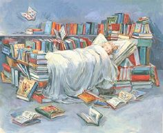 Sleeping-with-the-books