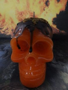 All Hallows Eve Skull Candle Samhain by MaidenMotherCrone on Etsy