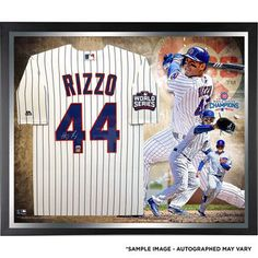 13d857723 Chicago Cubs Anthony Rizzo Fanatics Authentic 2016 MLB World Series  Champions Framed Autographed Majestic White Replica