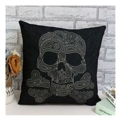 PP cotton cloth hold Pillow cotton pillow cushions cartoon skull