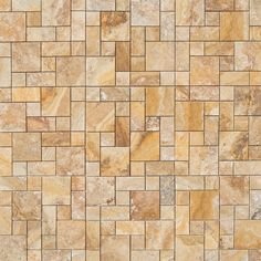 Travertine Mosaic - Empire Series - Scabos / Pattern / Brushed and Filled