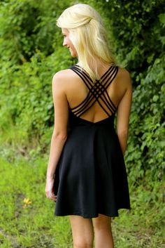 Word On The Street Dress-Black - $52.00