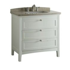 allen + roth Norbury 36-in x 22-in White Single Sink Bathroom Vanity with Engineered Stone Top