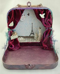 would love to make this!! suitcase play theatre