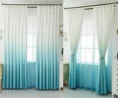 1PC New 2-TONE Window Curtain Grommet Panel Lined Blackout EID BLACK TEAL BLUE