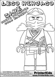 LEGO Ninjago Coloring Page LEGO LEGO Ninjago Jay