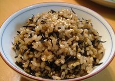 Brown Rice with Hijiki Seaweed Recipe -  Very Delicious. You must try this recipe!
