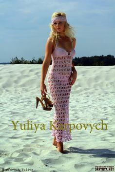 Crochet maxi…. crochelinhasagulhas: Saída de praia rosa em crochê