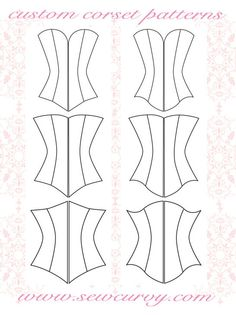 custom corset pattern shapes