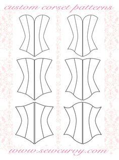 custom corset pattern shapes