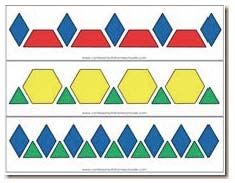 Fantastic Free preschool printables to laminate Thoughts Do you generally wonder the best way to pay for everything? If you have Montessori education and also a classical type Free Pattern Block Printables, Pattern Block Templates, Pattern Blocks, Block Patterns, Math Classroom, Kindergarten Math, Teaching Math, Fun Math, Math Games
