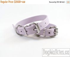 """FALL SALE 15% off Purple Pastel Lavender 3/4"""" (19mm) Beta Biothane Dog Collar - Leather Look and Feel - Adjustable custom - Stainless Steel by DogWalkies on Etsy https://www.etsy.com/listing/104564463/fall-sale-15-off-purple-pastel-lavender"""