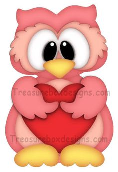 Valentine Owl www.treasureboxdesigns.com