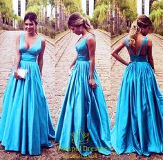 vampal.co.uk Offers High Quality Blue Princess Sleeveless V Neck Empire Waist…