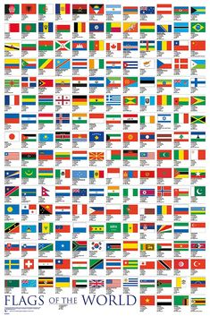 Flags Of The World, Educational Poster - Buy Online Minecraft Banner Designs, Minecraft Banners, All World Flags, Aids Poster, Poster Poster, Red And White Flag, Commonly Misspelled Words, International Flags, Flag Country