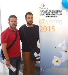 2015 Fco. Gómez y Álvaro Martín (CEIP Rosalía de Castro) en Jornada de directores y coordinadores TIC 'En la misma dirección'