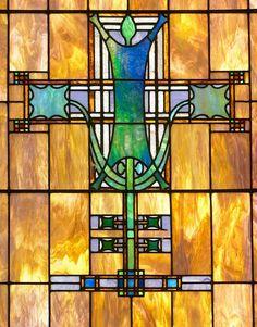 Vitral de Louis Sullivan   Merchants National Bank (Winona, Minnesota)   Foi construído em 1912 e apresenta elaborada  ornamentação em terracota e de vidro colorido. Ele foi listado no Registro Nacional de Lugares Históricos em 1974 por ter significado a nível de Estado nos temas da arquitetura.