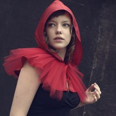 Little Red Riding Hood with tulle collar