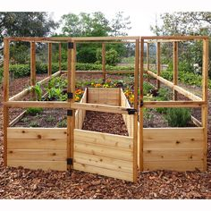 Outdoor Living Today 7.67 ft. x 11.75 ft. Cedar Raised Garden Planter