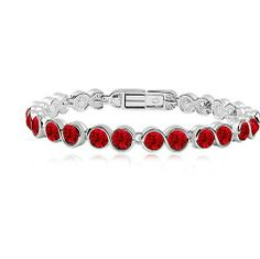 Crystal Infinity Link Bracelet - Also Available in Purple, White, Blue, Teal, and Multicolored