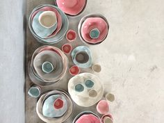 Beautiful irregular ceramic bowls for Sculptured Organic inspiration from Amai Saigon