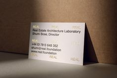 Visual identity and business cards for Real by OK-RM.