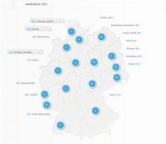 Der kürzlich veröffentlichte D21-Digital-Index 2013 zeigt, dass Deutschland mit 51,2 Punkten derzeit einen mittleren Digitalisierungsgrad hat. Künftig lässt sich dieser Wert mit nur einer Kennzahl für Deutschland und die 16 Bundesländer darstellen. http://netzwerkpilot.de/blog/digitalisierungsgrad-2013