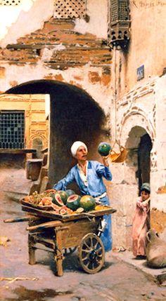 Raphael von Ambros (Austrian ,1855 -1895) - The Melon Seller
