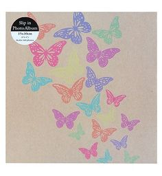 #Anker Butterfly Burst Photo Album 6x4 - 140 #48 Advantage card points. This butterfly burst slip-in photo album is a stylish way to keep your treasured pictures in one place. FREE Delivery on orders over 45 GBP. (Barcode EAN=5012128356513)