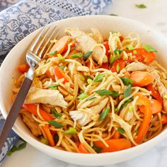 This Easy One Pan Kung Pao Chicken Pasta is a super easy Asian-inspired weeknight meal recipe that the whole family will love!