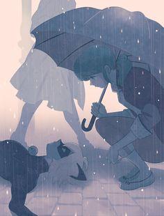 An umbrella scene that NEEDS TO HAPPEN (Miraculous Ladybug, Chat Noir, Marinette, Marichat)