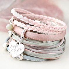 Trendy koord in silk style Wire Jewelry Earrings, Hand Jewelry, Cute Jewelry, Diy Jewelry Stamping, Stamped Jewelry, Cute Friendship Bracelets, Leather Jewelry, Handmade Bracelets, Leather Bracelets