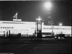 Berlin, Flughafen Tempelhof bei Nacht (1928)